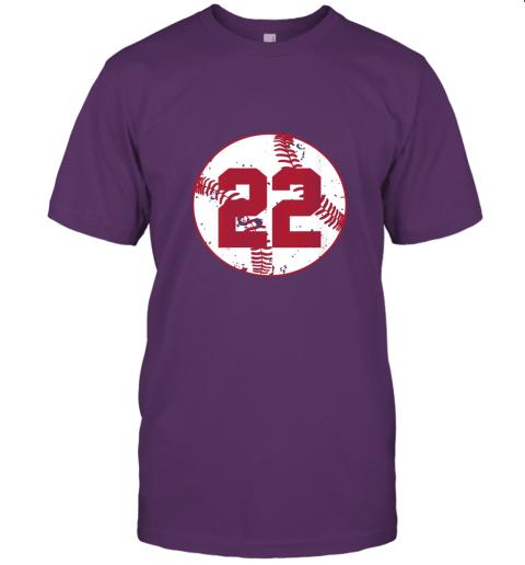 v773 womens vintage baseball number 22 shirt cool softball mom gift jersey t shirt 60 front team purple