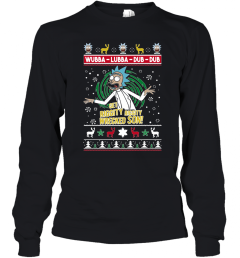 GET RIGGITY WRECKED SON UGLY CHRISTMAS Youth Long Sleeve