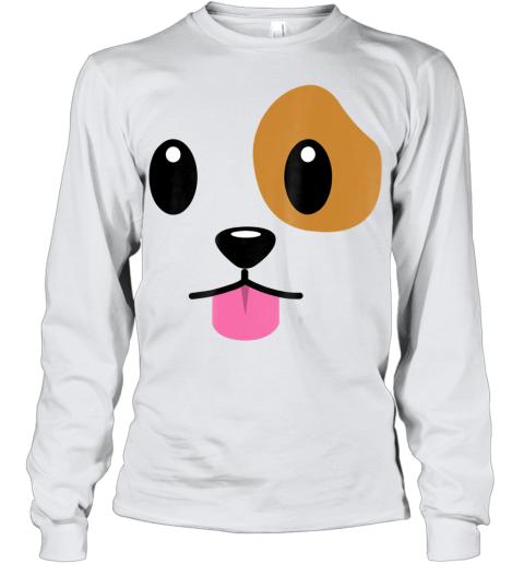 Puppy Dog Emoji Face Halloween Costume Youth Long Sleeve