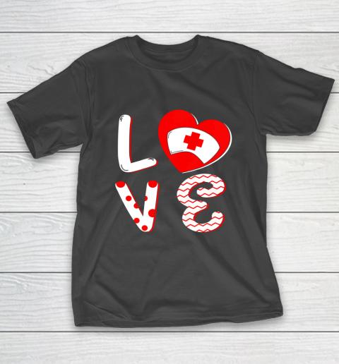 Medical Nurse Valentine Day Shirt Love Matching T-Shirt