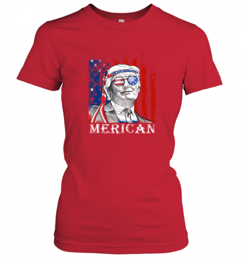 yl3e merica donald trump 4th of july american flag shirts ladies t shirt 20 front red