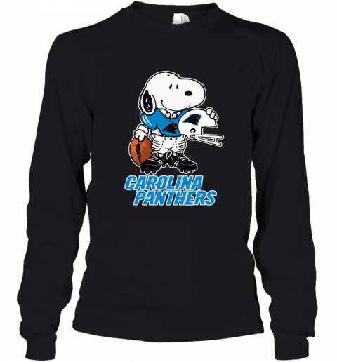 Snoopy A Strong And Proud Carolina Panthers NFL Youth Long Sleeve