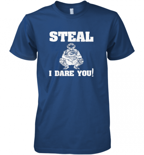2ncy kids baseball catcher gift funny youth shirt steal i dare you33 premium guys tee 5 front royal