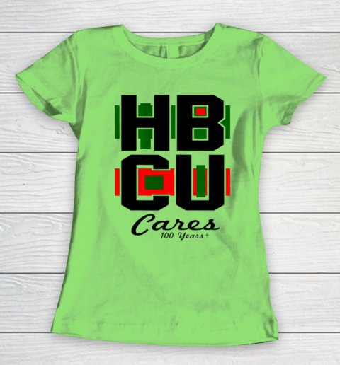 HBCU Cares College University Graduation Gift Black School Women's T-Shirt 5