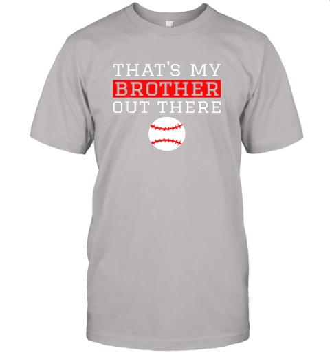 5pun sister baseball gift that39 s my brother baseball sister jersey t shirt 60 front ash