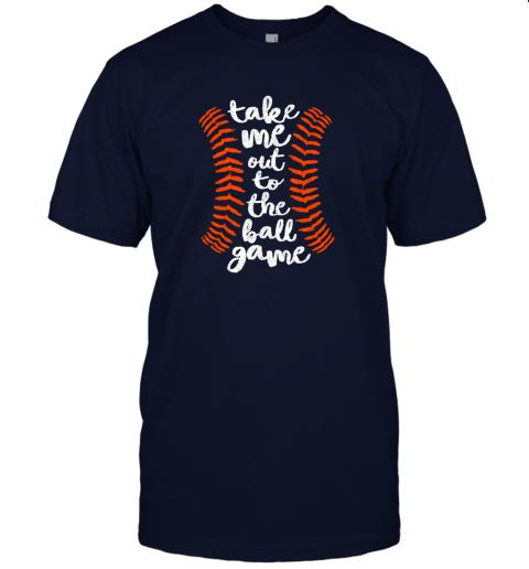 nqoq take me out ball game shirt baseball song orange black blue jersey t shirt 60 front navy