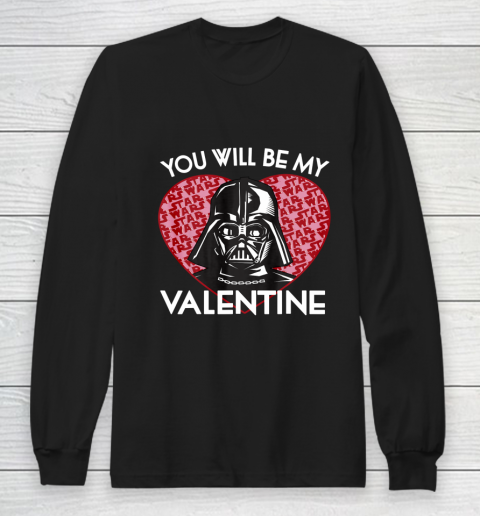 Star Wars You Will Be My Valentine Darth Vader Long Sleeve T-Shirt