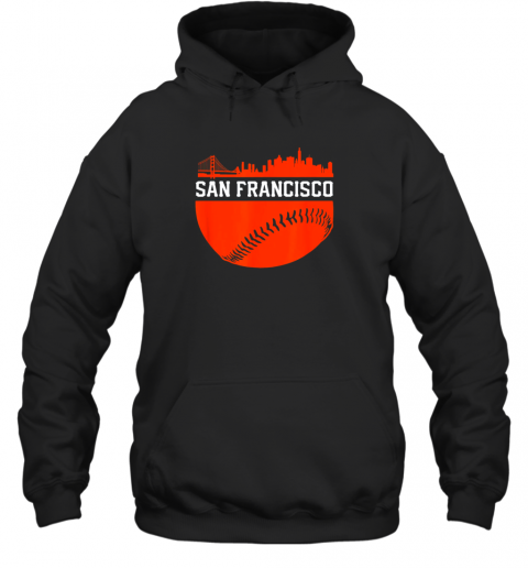 San Francisco Baseball Vintage SF The City Skyline Gift Hoodie