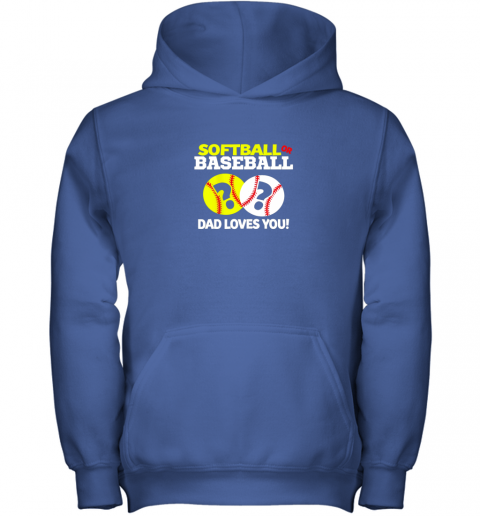 nj0y softball or baseball dad loves you gender reveal youth hoodie 43 front royal