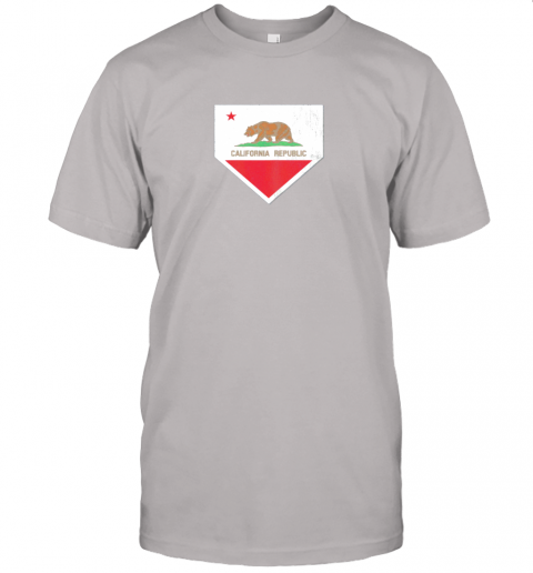9qsz vintage baseball home plate with california state flag jersey t shirt 60 front ash