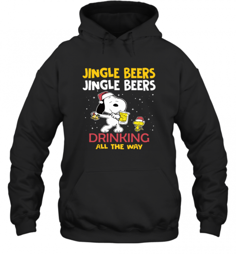 Jingle Beers Drinking All The Way Snoopy Hoodie