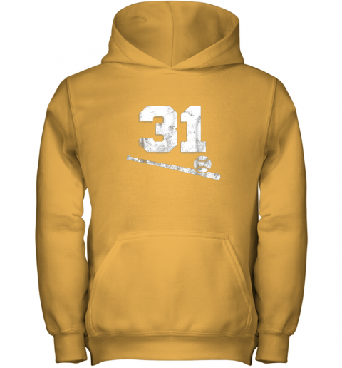 5nmw vintage baseball jersey number 31 shirt player number youth hoodie 43 front gold