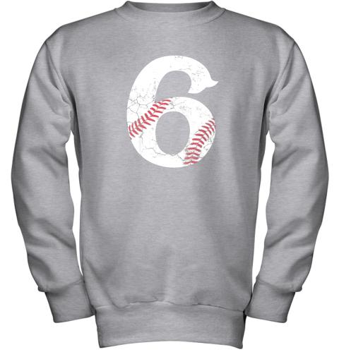 wmvt kids happy birthday 6th 6 year old baseball gift boys girls 2013 youth sweatshirt 47 front sport grey