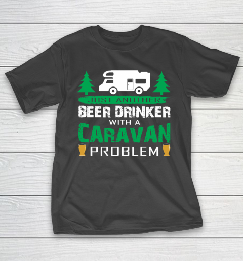 Happy Camping Just Another Beer Drinker Funny T-Shirt