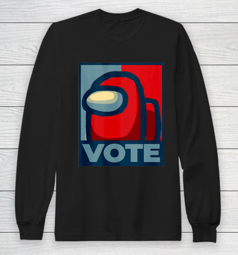 Who is the Impostor neu Among with us start the vote Long Sleeve T-Shirt