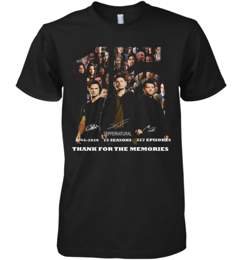 15 Years Of Supernatural Thank You For The Memories Premium Men's T-Shirt