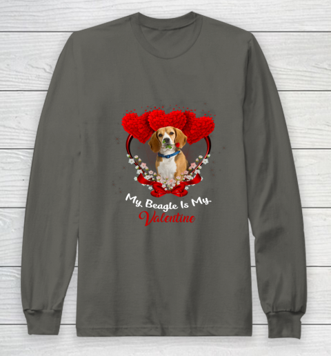 My Beagle is My Valentine Day 2019 Dog Long Sleeve T-Shirt 5