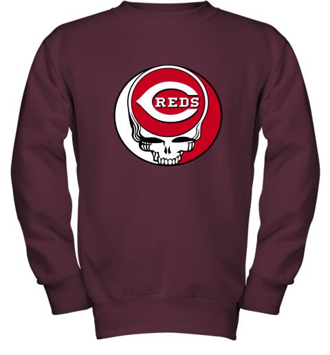 Cincinnati Reds The Grateful Dead Baseball MLB Mashup Youth Sweatshirt