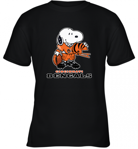 Snoopy A Strong And Proud Cincinnati Bengals NFL Youth T-Shirt