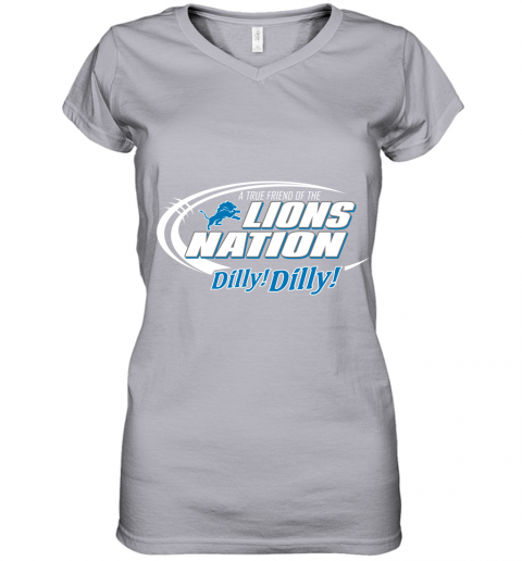 tfvl a true friend of the lions nation women v neck t shirt 39 front sport grey