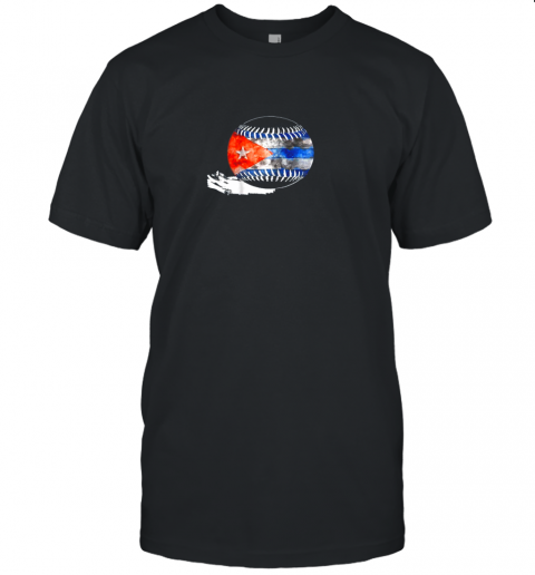 Vintage Baseball Cuba Flag Shirt Cuban Pride Unisex Jersey Tee