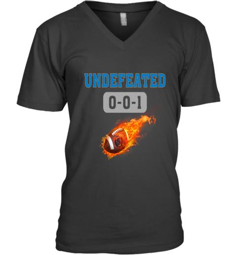 NFL DETROIT LIONS LOGO Undefeated V-Neck T-Shirt