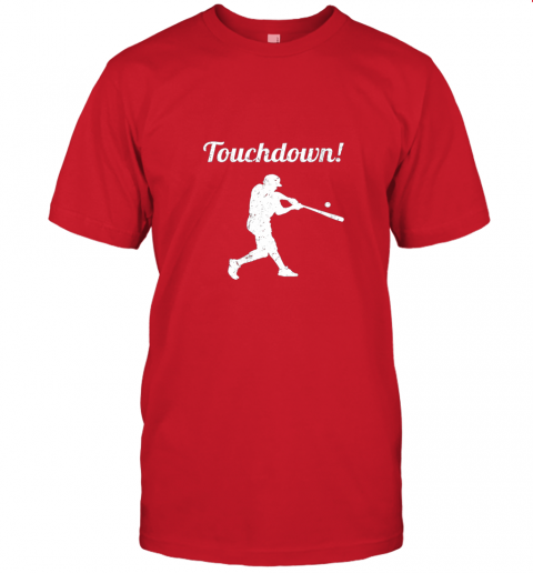 381s touchdown funny baseball jersey t shirt 60 front red