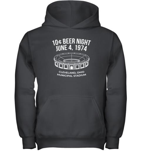 Cleveland Baseball Shirt Retro 10 Cent Beer Night Youth Hoodie
