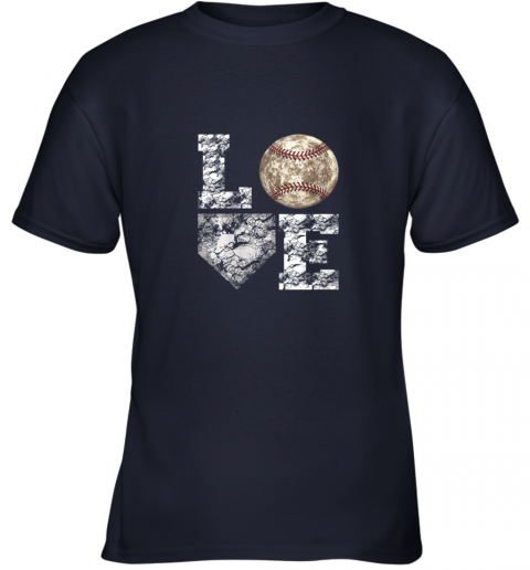 g0s0 baseball distressed ball cute dad mom love gift youth t shirt 26 front navy