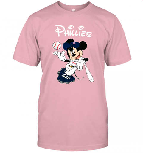 vdxf baseball mickey team philadelphia phillies jersey t shirt 60 front pink