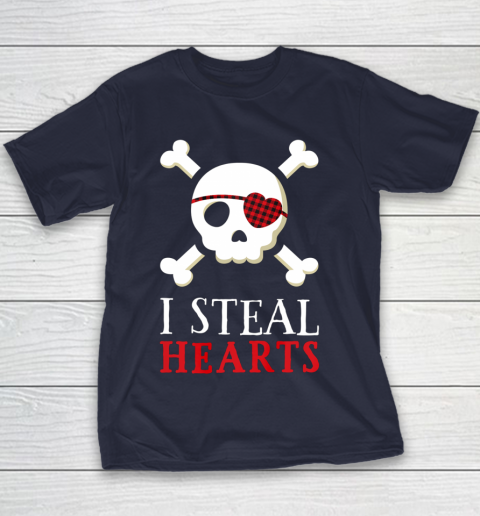 I Steal Hearts T Shirt Boy Girl Toddler Skull Valentine Gift Youth T-Shirt 2