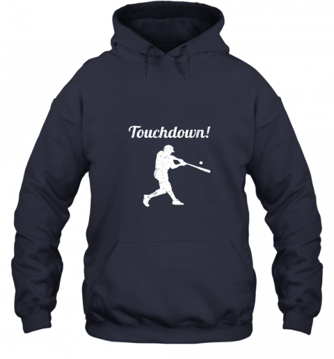 r7r3 touchdown funny baseball hoodie 23 front navy