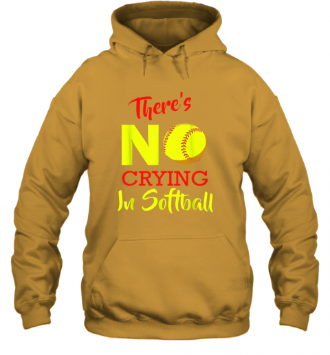 4kaz there39 s no crying in softball baseball coach player lover hoodie 23 front gold