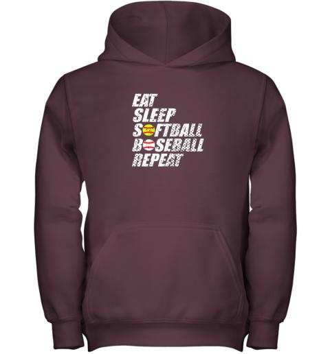 op3p softball baseball repeat shirt cool cute gift ball mom dad youth hoodie 43 front maroon