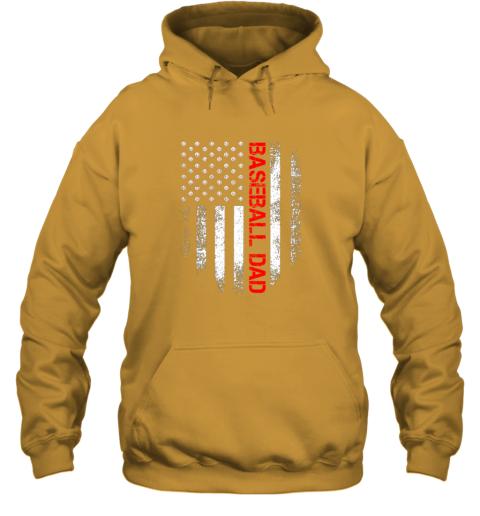 lj8q vintage usa american flag proud baseball dad player hoodie 23 front gold
