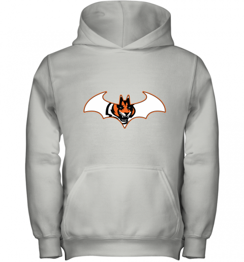 w14b we are the cincinnati bengals batman nfl mashup youth hoodie 43 front white