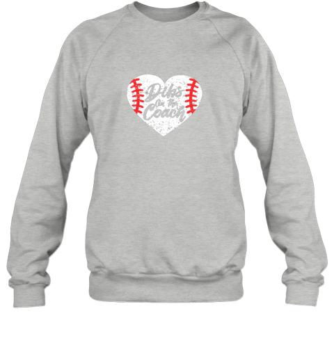 5ar8 dibs on the coach funny baseball sweatshirt 35 front sport grey