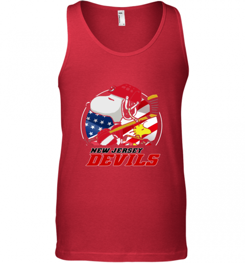 New Jersey Devils Ice Hockey Snoopy And Woodstock NHL Tank Top
