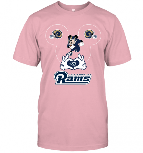 2nxj i love the rams mickey mouse los angeles rams jersey t shirt 60 front pink
