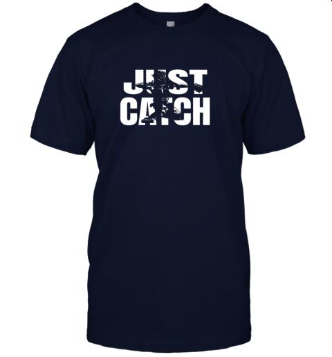 gimj just catch baseball catchers long sleeve shirt baseballisms jersey t shirt 60 front navy