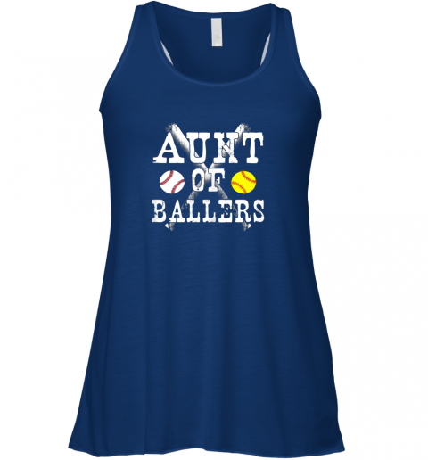 vx2p vintage aunt of ballers shirt funny baseball softball love flowy tank 32 front true royal