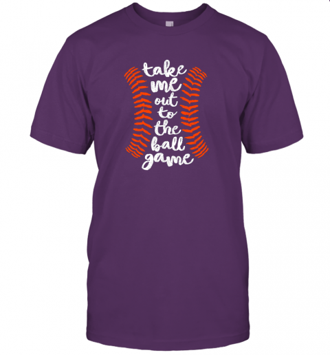 nqoq take me out ball game shirt baseball song orange black blue jersey t shirt 60 front team purple