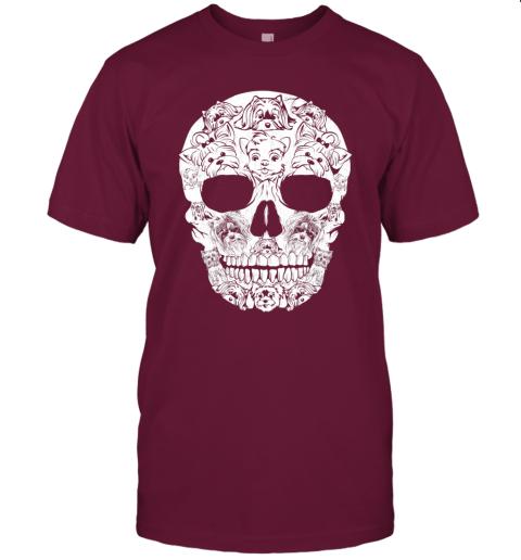 Yorkshire Terrier Dog Skull Shirt Halloween Costumes Gift T-Shirt