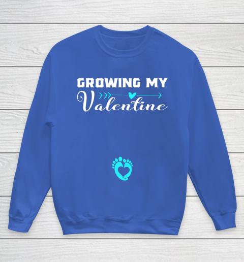 Cute Growing my Valentine Gift for Women pregnancy Youth Sweatshirt 6