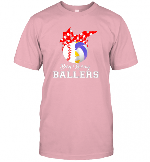 o052 baseball volleyball busy raising ballers shirt mothers day jersey t shirt 60 front pink