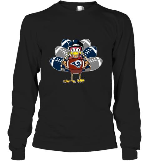 Los Angeles Rams  Thanksgiving Turkey Football NFL Long Sleeve T-Shirt