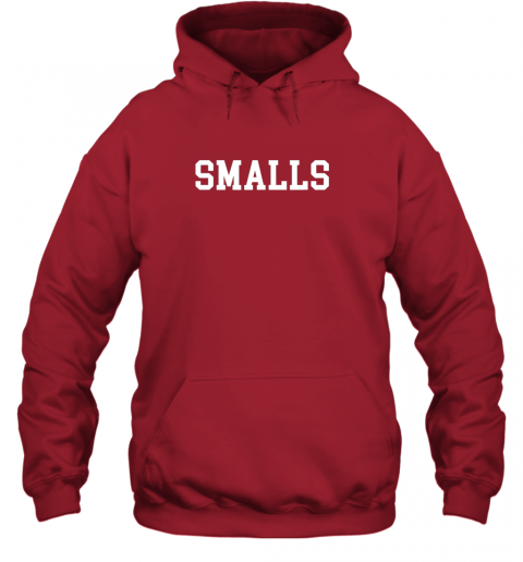 j49x smalls shirt funny baseball gift hoodie 23 front red
