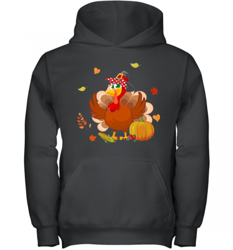 Mom Turkey Thanksgiving Gift Youth Hoodie