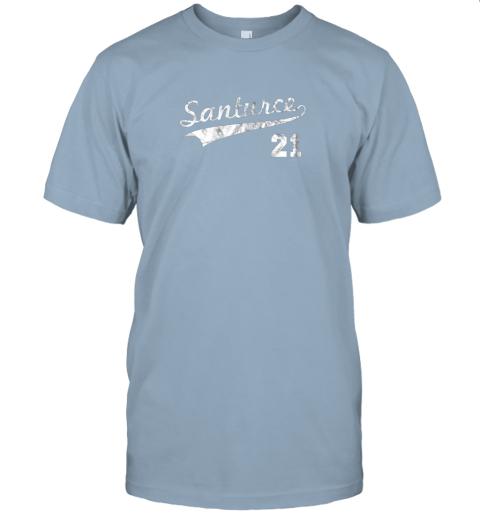 shyt vintage distressed santurce 21 puerto rico baseball jersey t shirt 60 front light blue