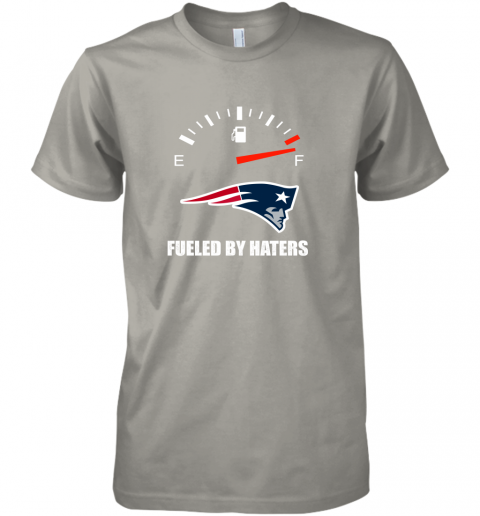 r8ks fueled by haters maximum fuel new england patriots premium guys tee 5 front light grey